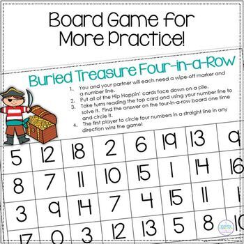 Number Line Addition and Subtraction Pirate Game