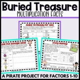 Multiplication Project: Buried Treasure-Applying Facts for factors 1-10
