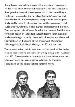 Burke and Hare murders Handout
