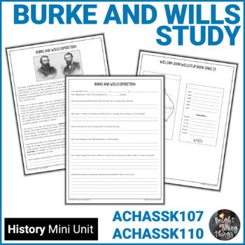 Burke and Wills - Australian Explorers Information and Activity Packet