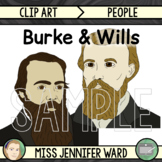 Burke and Wills Clip Art