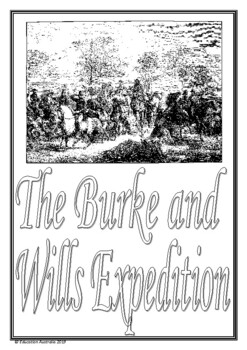 Burke and Wills Title Pages - 3 Designs - Australian History - Expedition