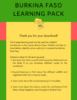 Burkina Faso Learning Pack