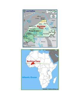 Burkina Faso Map Scavenger Hunt