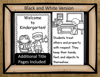 Burlap AND Bold Colors - Classroom Rules and Welcome Booklet {Back to School}