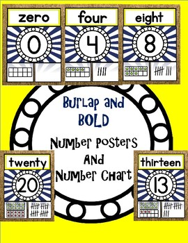 Burlap AND Bold - Number Posters and Number Chart