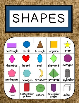 Burlap AND Bold - Shapes {2-D and 3-D}
