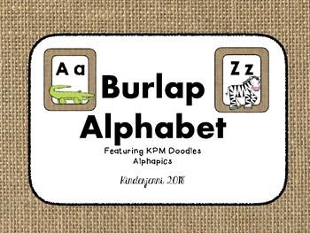 Burlap Alphabet 2