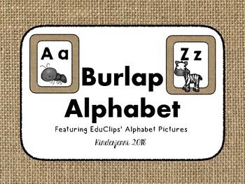 Burlap Alphabet