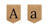 Burlap Alphabet. Black