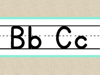 Burlap Alphabet Line