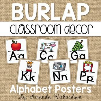 Burlap Alphabet Posters