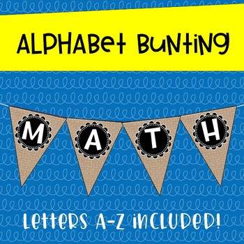 Burlap Alphabet Posters ~ Chalkboard