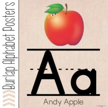 Burlap Alphabet Posters Using Journeys Alphafriends