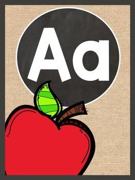 Burlap Alphabet Strip
