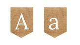 Burlap Alphabet. White