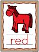 Burlap & Bandanas Horse Color Words Poster Set