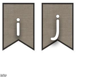 Burlap Banner / Pennants