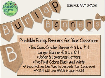 Banners-Burlap-Two Sizes and Two Colors