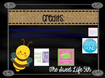 Burlap, Bees, & Chalkboard Classroom Rules
