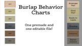Burlap Behavior Charts