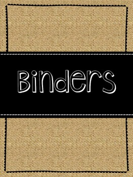 Burlap Binder Covers
