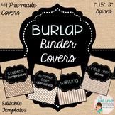 Burlap Binder Covers EDITABLE!