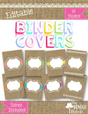 Burlap Binder Covers {Editable}