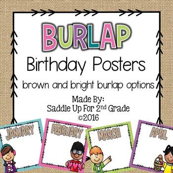 Burlap Birthday Board
