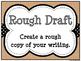 Burlap & Black Writing Process Workshop Displays & Clip Chart