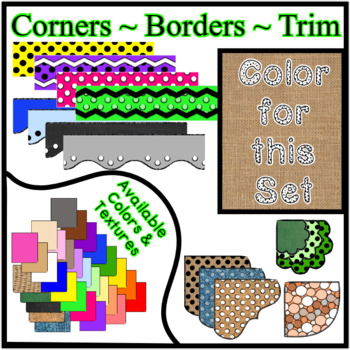 Burlap Borders Trim Corners *Create Your Own Dream Classroom/Daycare*