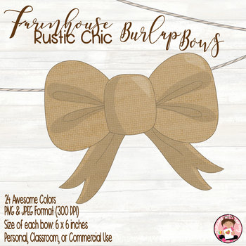 Burlap Bows Classroom or Commercial Use