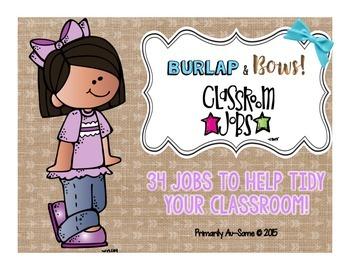 Burlap & Bows Classroom Jobs Bundle