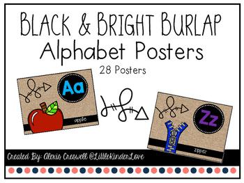 Burlap & Bright Alphabet Posters