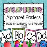Burlap Bright Alphabet Posters