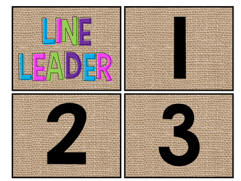 Burlap Bright & Black Floor Numbers