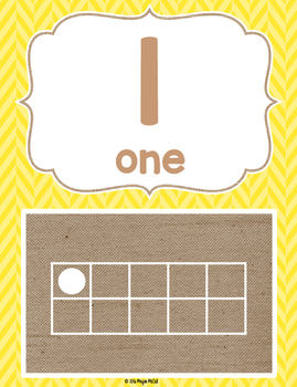 Burlap & Brights 10 Frame Cards