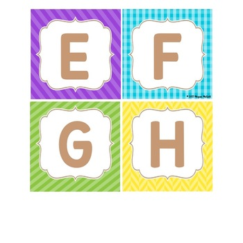 Burlap & Brights Freebie: Word Wall Letter Cards (3 formats)
