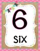 Burlap & Brights Number Posters