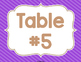 Burlap & Brights: Table Signs (Number & Color)