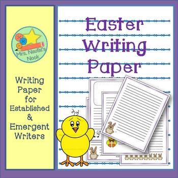 Writing Paper Templates - Easter Theme