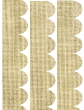 Burlap Bulletin Board Border/Trim
