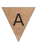 Burlap Bunting Pennant Banner (Customizable)