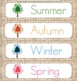Burlap Calendar