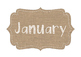 Burlap Calendar & ABCs **BURLAP & WHITE**