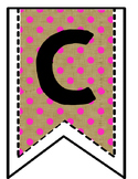 Burlap Calendar Banner