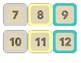 Burlap Calendar Numbers