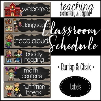 Burlap and Chalk Background Bulletin Board Bundle