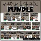 Burlap and Chalk Classroom Theme Decor Bundle