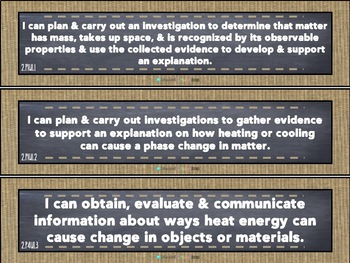 "Burlap & Chalk Common Core -""I Can"" Statements - Math & Science- 2nd grade"